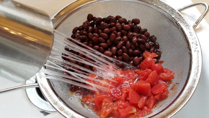 Quinoa rinse beans