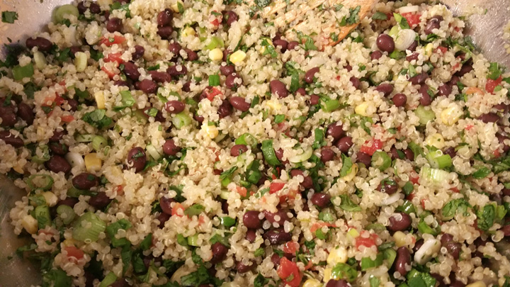 Quinoa veggies mixed