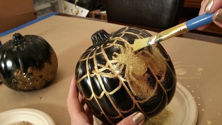 Pumpkins Brush Glitter